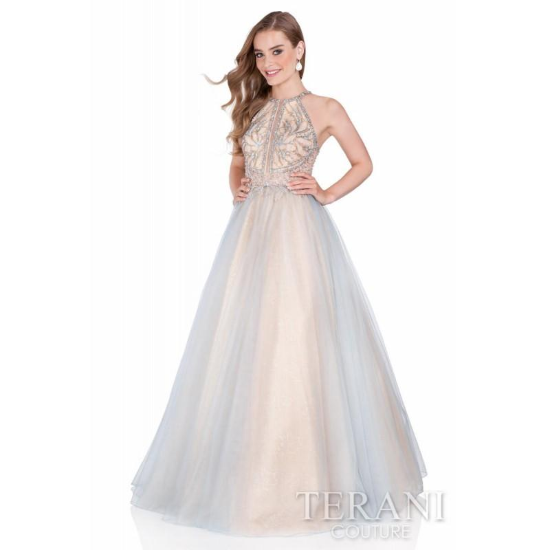 Mariage - Terani Prom 1611P1238 Dusty Blue Gold,Dusty Coral Gold,Dusty Dark Blue Gold,Dusty Lavender Gold Dress - The Unique Prom Store