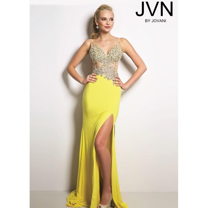 7c0cadd693c4e JVN by Jovani JVN20246 Fit and Flare Dress - 2017 Spring Trends Dresses