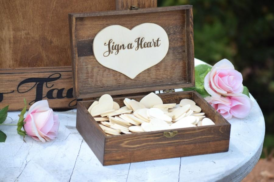 Свадьба - Heart Holder for Guest Book - Heart Drop Guest Book Alternative Box - Heart Box - Wedding Box - Wedding Card Holder - Rustic Weddings