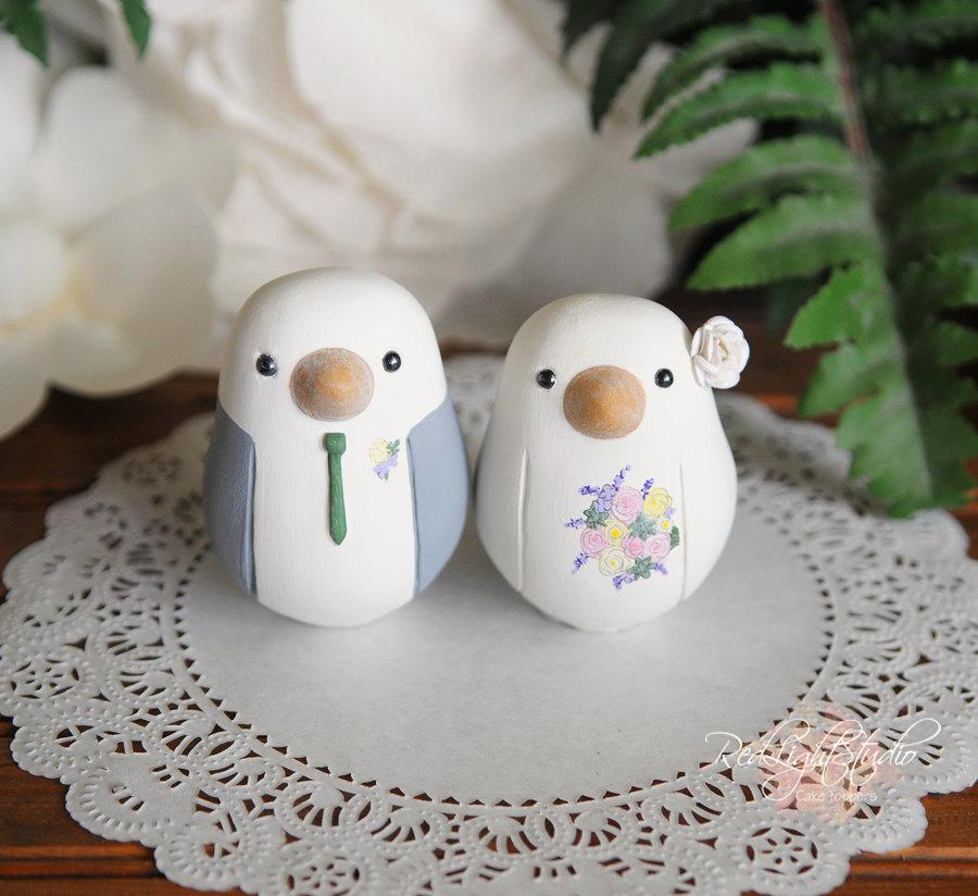 Hochzeit - Wedding Cake Topper - Love Birds - Medium