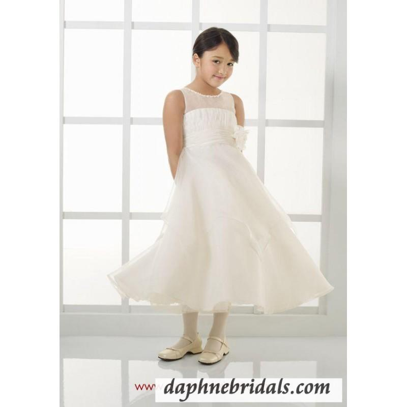 Wedding - Mori Lee flower girl dresses Style 121 Organza with Beading - Compelling Wedding Dresses