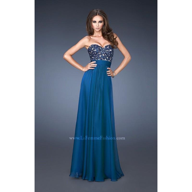 Boda - Chocolate La Femme 18581 - Chiffon Crystals Dress - Customize Your Prom Dress