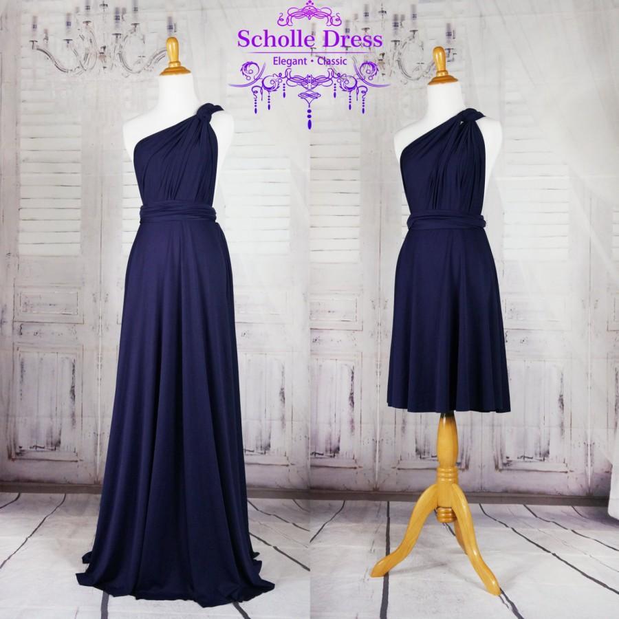 Wedding - Navy Infinity Dress Convertible Formal,wrap dress ,bridesmaid dress,party dress Evening dress -C12# B12#