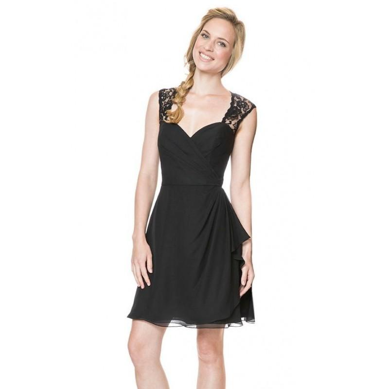 Hochzeit - Black/Black Sweetheart Dress by Bari Jay - Color Your Classy Wardrobe