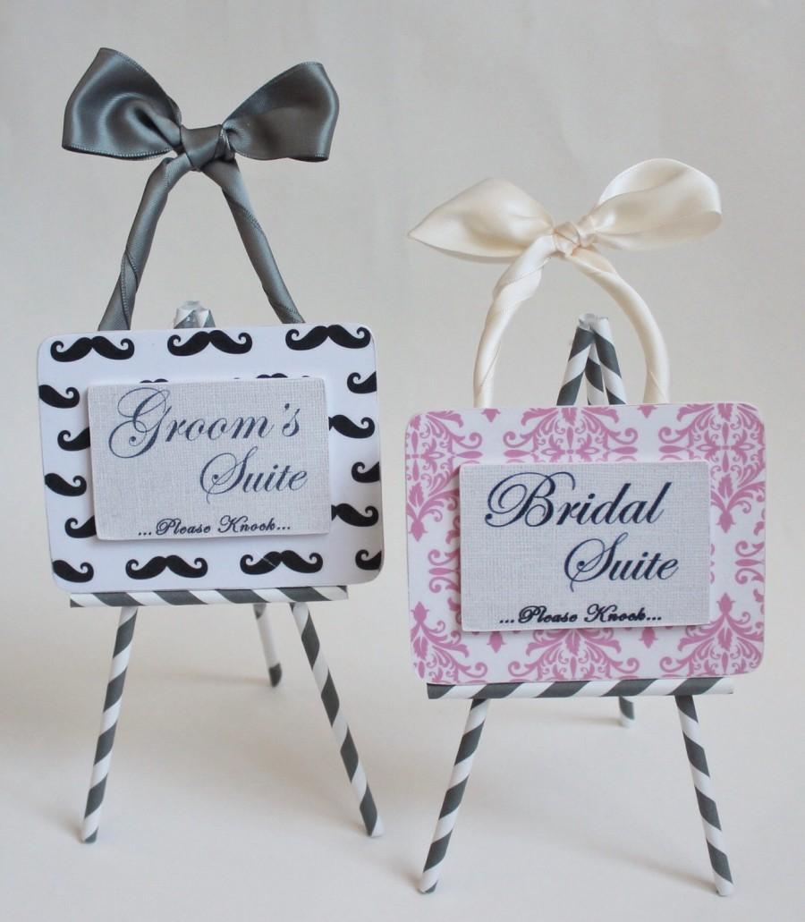 Custom Handmade Wedding Room Door Hanger For The Bride And Groom ...