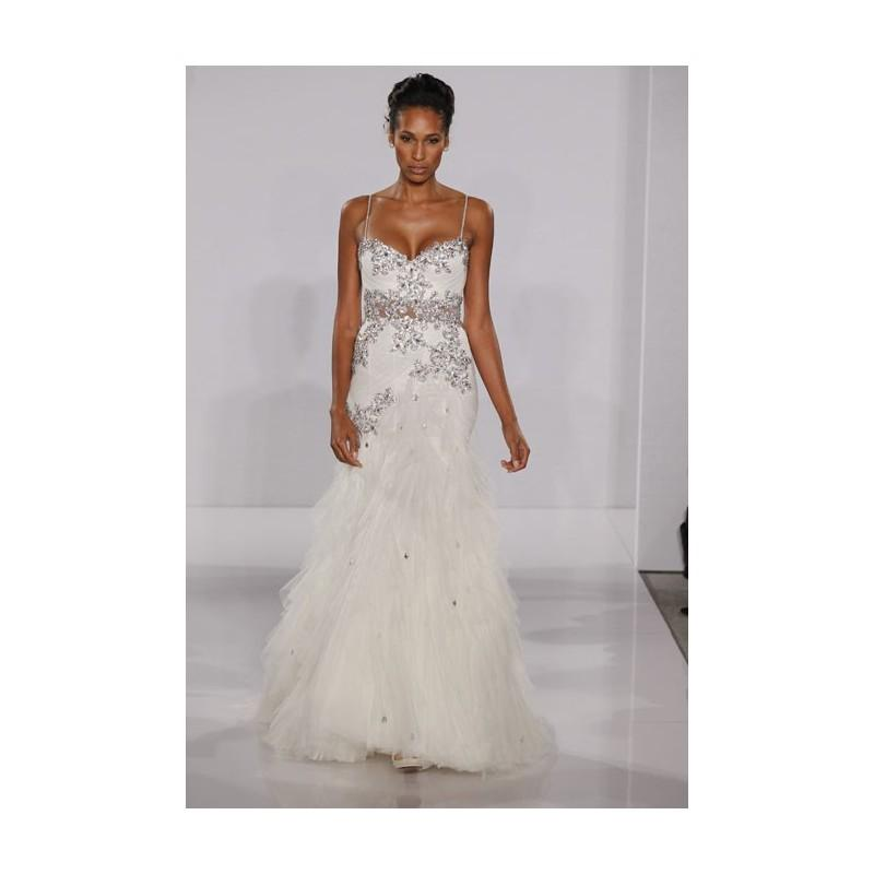 Pnina tornai fall 2012 sleeveless beaded satin and for Cheap wedding dresses sale