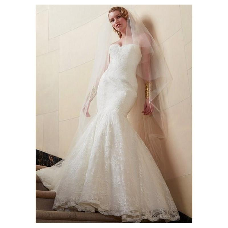 Wedding - Stunning Alencon Lace Mermaid Sweetheart Neckline Natural Waistline Wedding Dress - overpinks.com