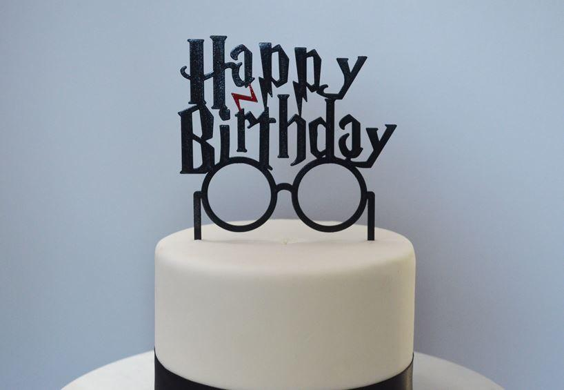 Happy Birthday Harry Potter Inspired Cake Topper