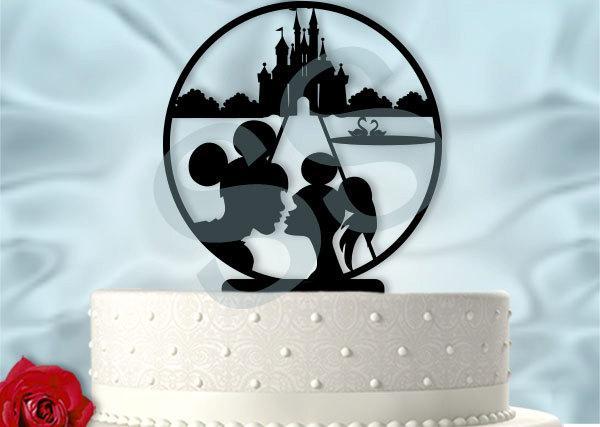 Mariage - Main Street Kiss Wedding Cake Topper