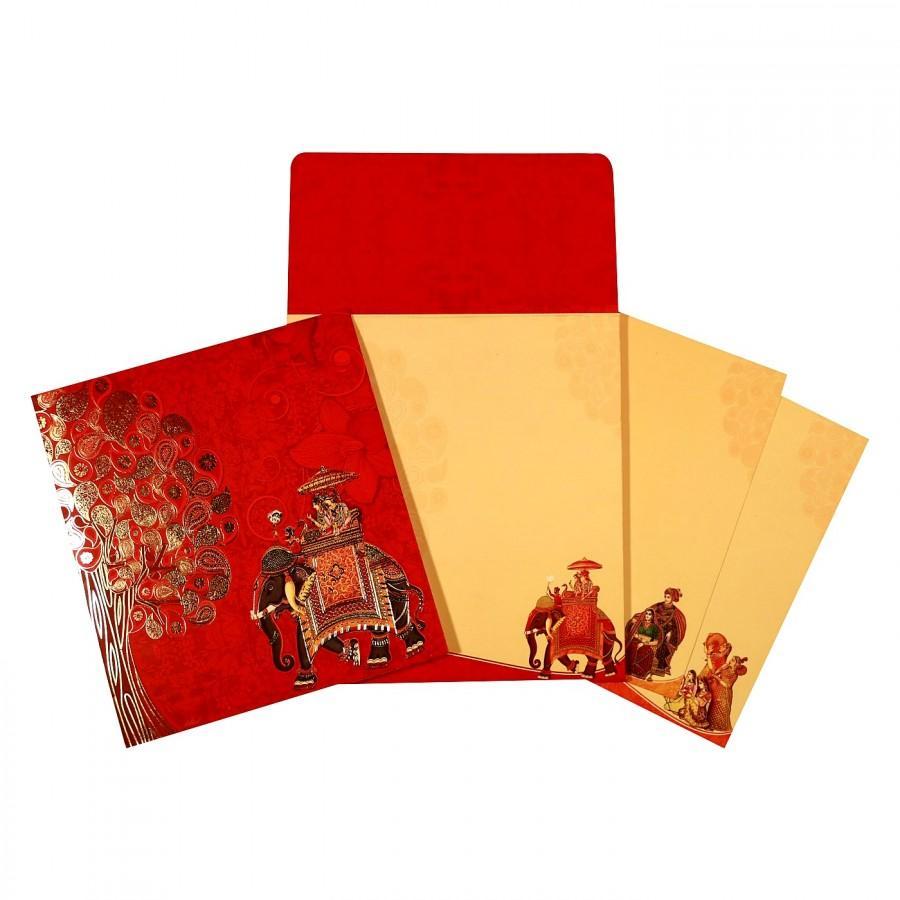 Mariage - Hindu wedding cards - AW-1669 - A2zWeddingCards