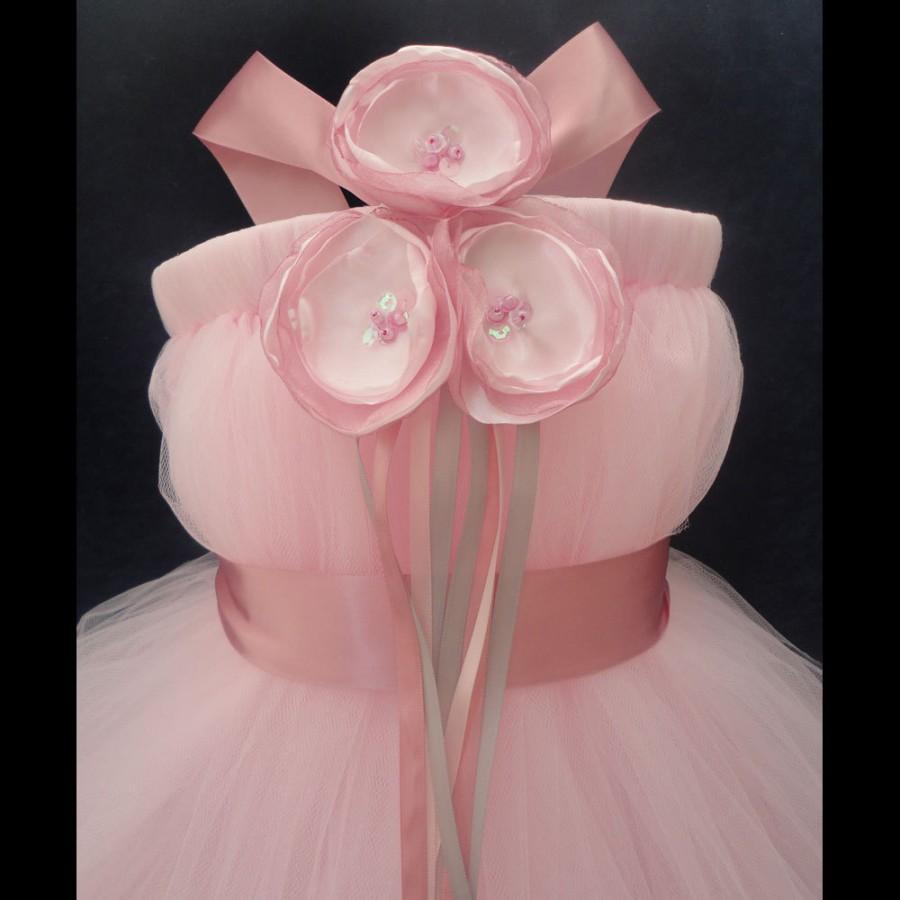 Свадьба - Blush Pink Flower Girl Dress, Little Girls, Toddler Girls, Baby Girls, Flowergirl Dress, Tutu Dress, Flower Sash