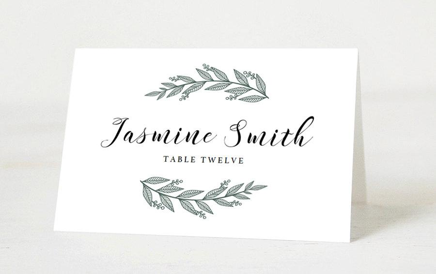 Editable wedding place cards template printable place for Wedding place name cards