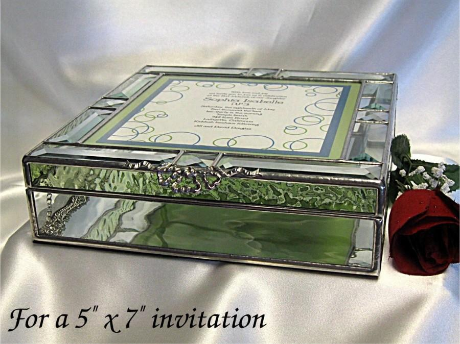Stained Glass Wedding Invitation Keepsake Box In Stained Glass For A