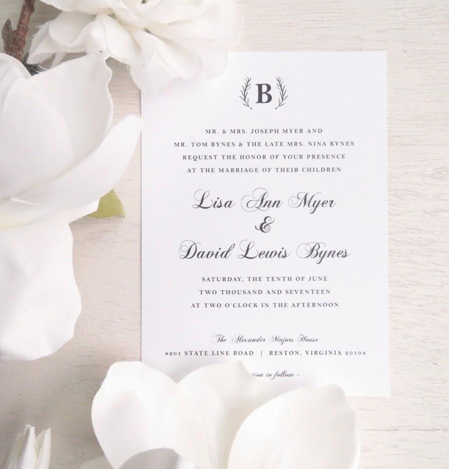 زفاف - Printable Wedding Invitation - Style INV18 - ELEGANT Wedding COLLECTION