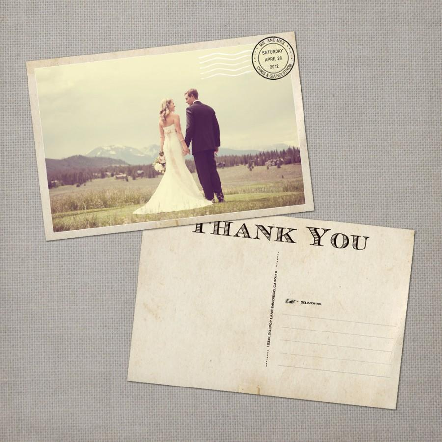 Wedding Thank You Cards Note Vintage Card Postcard The Gia