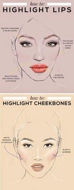 Свадьба - Teenage Fashion Blog: How To Highlight Lips & Cheekbones - Prom Tips