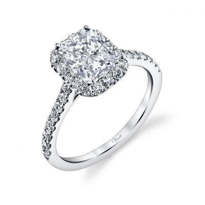 Mariage - 14K White Gold And Diamond Engagement Ring