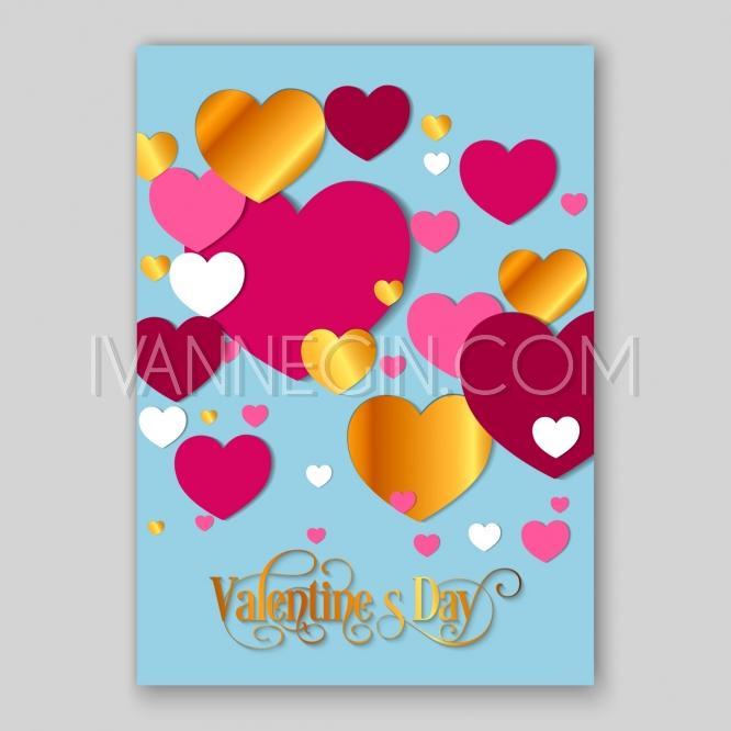 Paper hearts wedding invitations