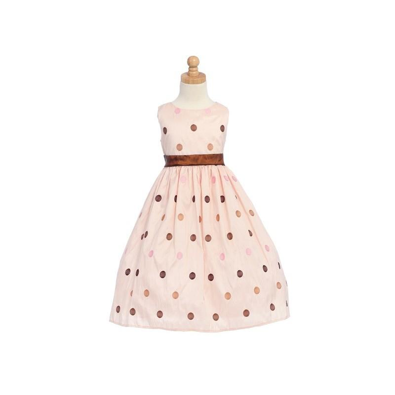 Mariage - Pink Flower Girl Dress - Polka-Dot Embroidered Organza Style: D1650 - Charming Wedding Party Dresses