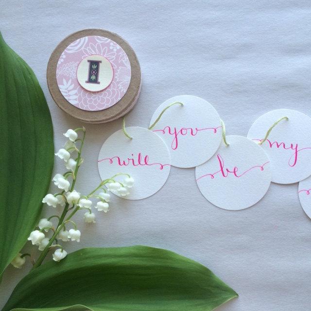 زفاف - Asking Bridesmaids Invitation Boxes Customized for you Modern Calligraphy
