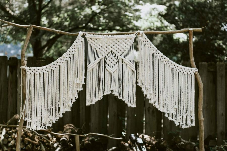 Mariage - Macrame Wedding Backdrop Curtain - Bohemian - Modern -