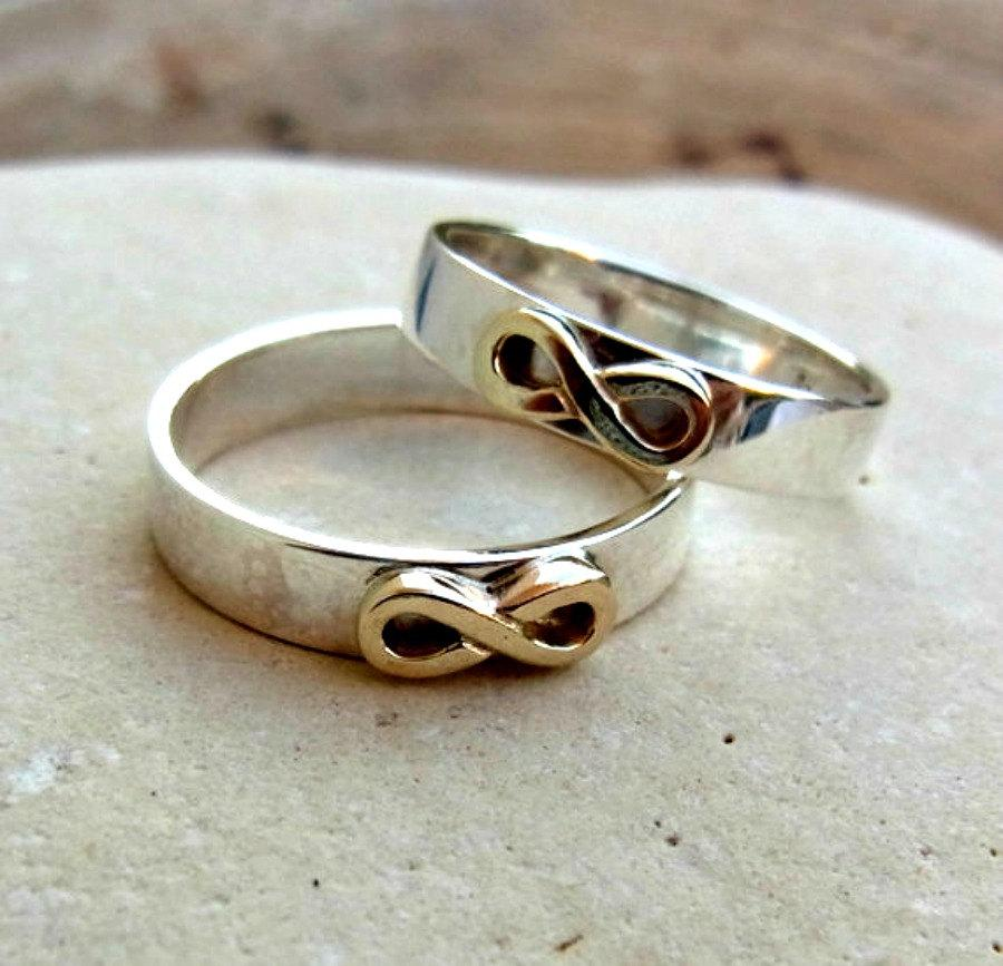 Set Of Promise Rings, Set Of Wedding Bands, Set Of Infinity Bands ...