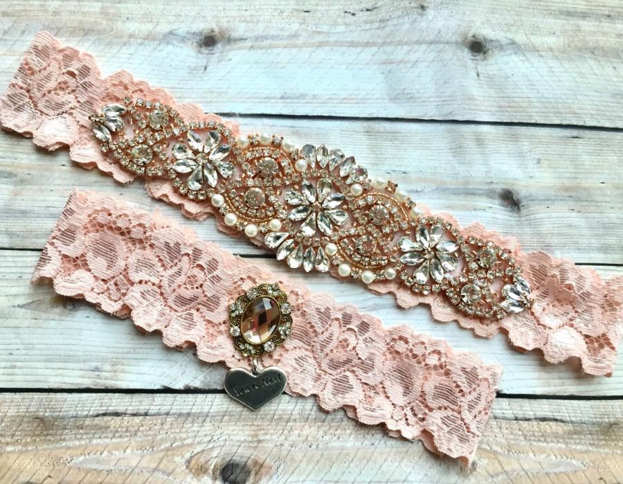 Свадьба - Rose Gold Wedding Garter, Blush Garter Set, Blush Bridal Garter, Rose Gold Garter, Wedding Garter Blush, Pink Garter, Pink Garter Set