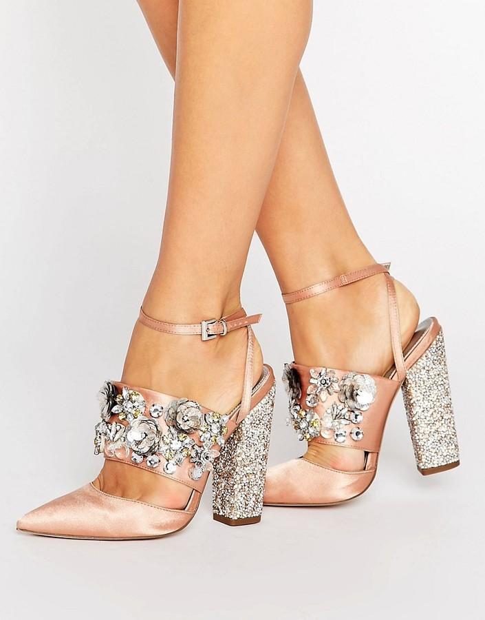 Mariage - ASOS PAPAYA Bridal Embellished Heels