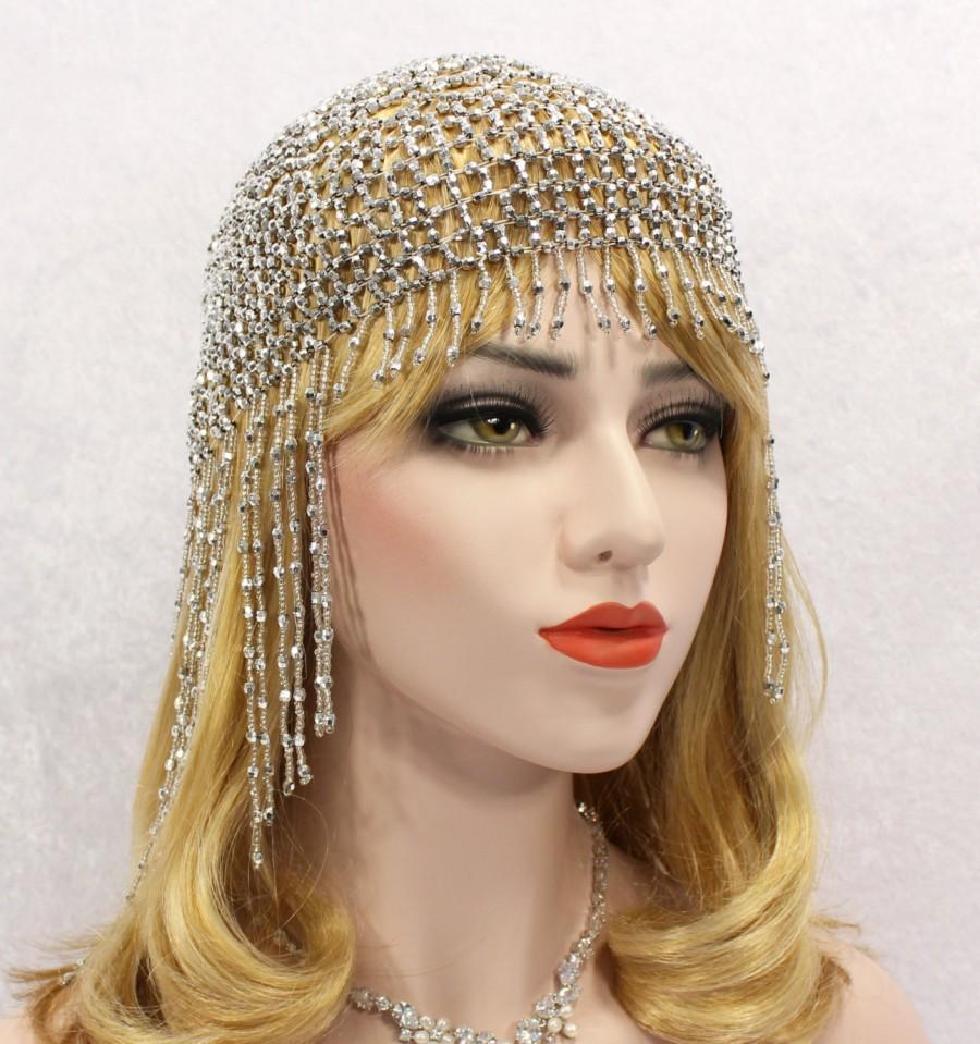 Great Gatsby Headpiece Roaring 20s Headband 1920s Fler Beaded Dress Downton Abbey