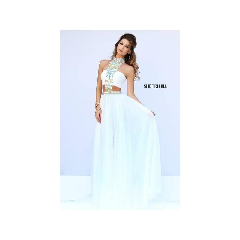 Wedding - Sherri Hill 11247 Beaded Chiffon Prom Dress - Crazy Sale Bridal Dresses