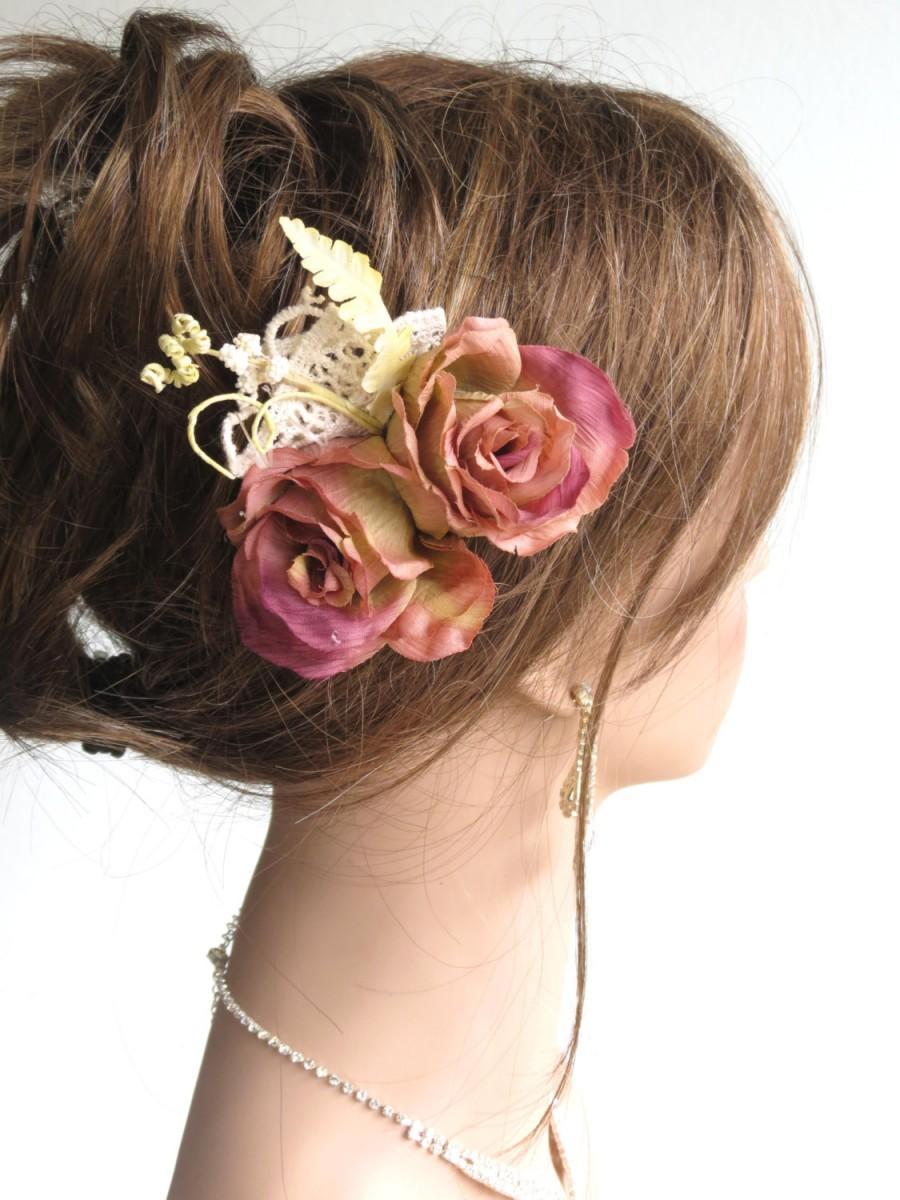 Wedding - Wedding Accessory Hair Clip Bridal Accessory Hair Flower Clip Lace