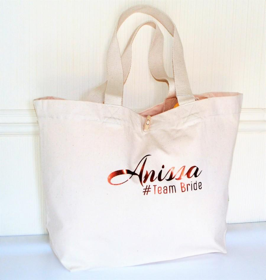 Personalised Organic Marina Tote Bridesmaid Bag Bridesmaid Gift ...