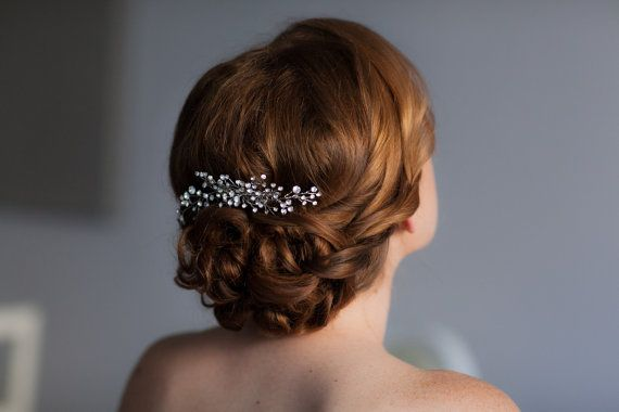 Wedding - Rhinestone Hair Comb, Wedding Hair Pins, Bridal Rhinestone Hair Vine, Bridal Headpiece