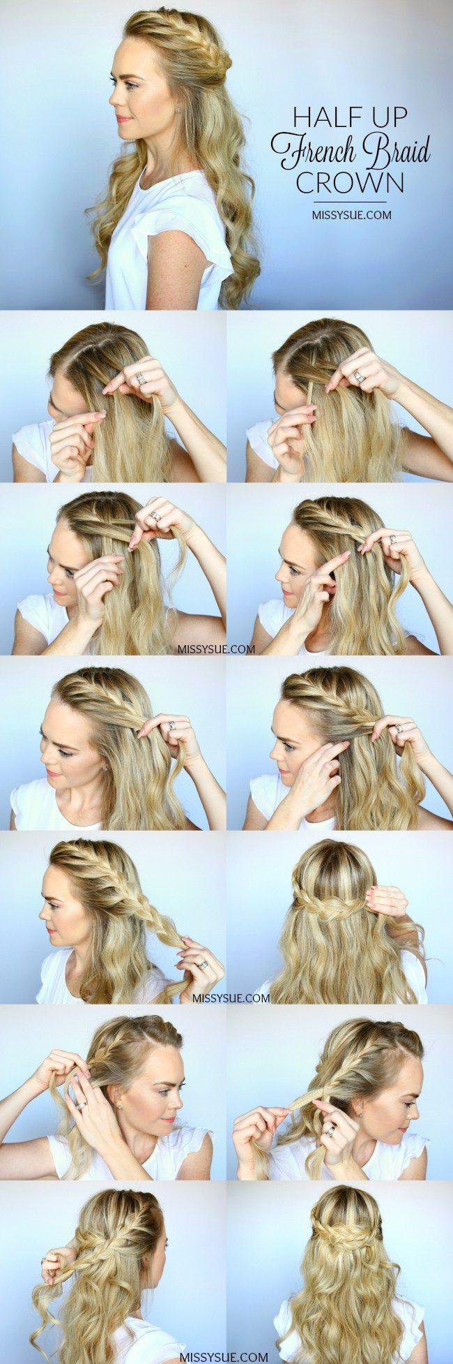Wedding - Half Up French Braid Crown