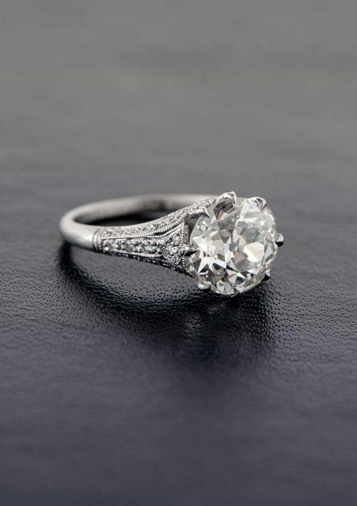 زفاف - 3.25ct Vintage Engagement Ring