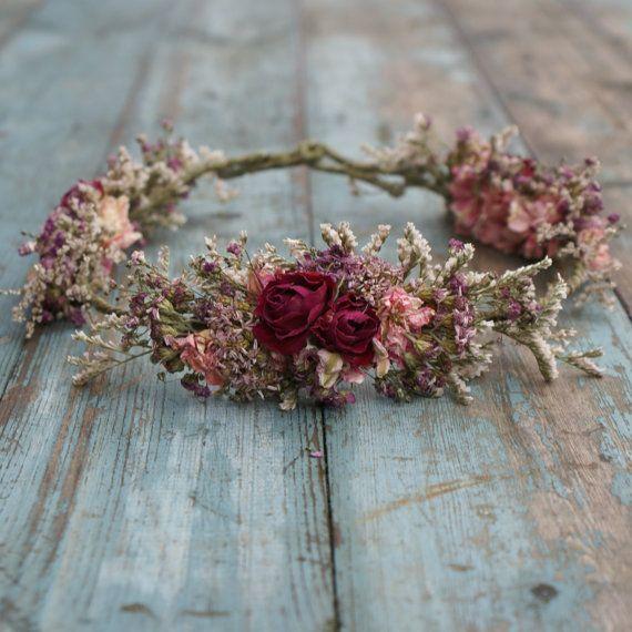 Wedding - Summer Haze Dried Flower Hair Crown