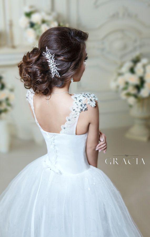 Mariage - Pearl Hair Comb Wedding Hair Comb Bridal Hair Jewelry Pearl Hair Piece Bridal Hairpiece Wedding Hair Clip Silver Gold Bridesmaid Hairpiece