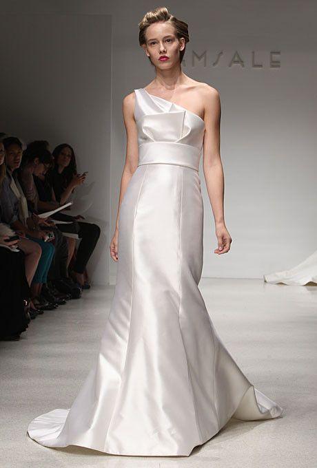 Mariage - Amsale 'Hampton' One Shoulder Wedding Dress