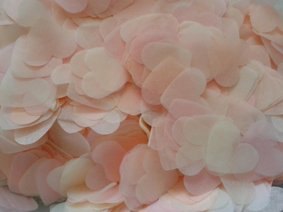 Mariage - 1500 pieces handmade biodegradable wedding confetti- peach pale pink and ivory