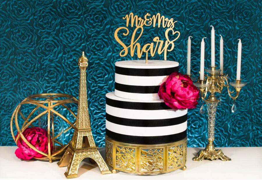 Mariage - Gold Cake Topper