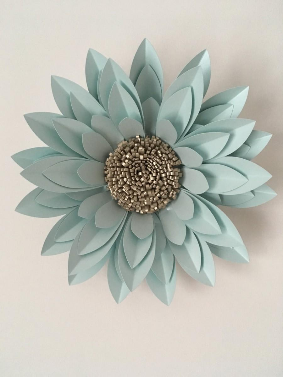 """Свадьба - 40cm (16"""") Dahlia created from pearlescent card and paper"""