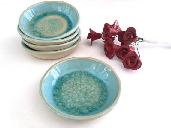 Ceramic Ring Dish Holder Small Bowl Birthday Gift Gifts For Her Jewelry Something Blue