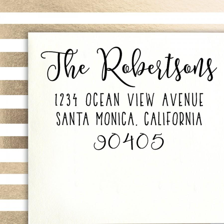 Hochzeit - Address Stamp, family stamp, wedding stamp, customized gift for holidays, housewarming, weddings and birthdays
