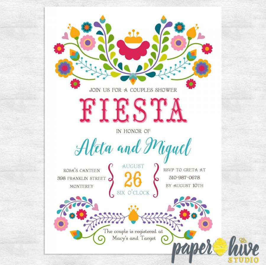 fiesta invitation fiesta couples shower invitations engagement party invite printable invitations printed invitations