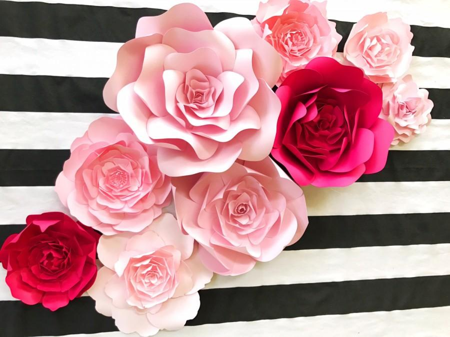 Kate Spade Inspired Paper Flower Wall Decor, Large Paper Flower Backdrop,  Giant Paper Flowers, Paper Flower Backdrop, Photo Shoot Props