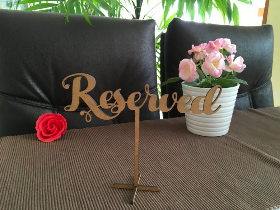 Wedding Reserved Sign, Reserved Sign, Wood Standing Reserved Table ...