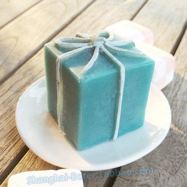 Hochzeit - Beter Gifts® Tiffany Giftbox禮品盒小蠟燭,歐式婚慶用品LZ028/A創意婚品派對佈置 來賓小禮物