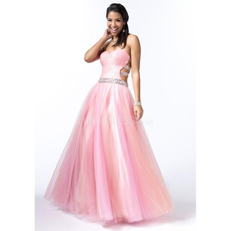 Dramatic Sweetheart Tulle Sleeveless Floor Length Princess Prom ...