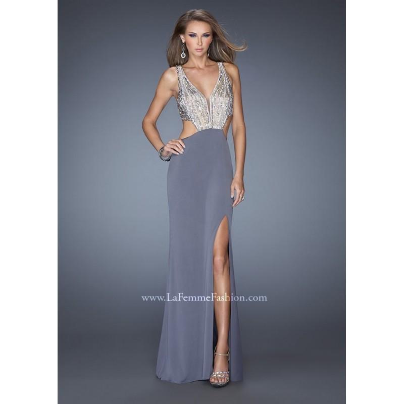 Wedding - La Femme 19951 V-Neck Jersey Dress Website Special - 2017 Spring Trends Dresses