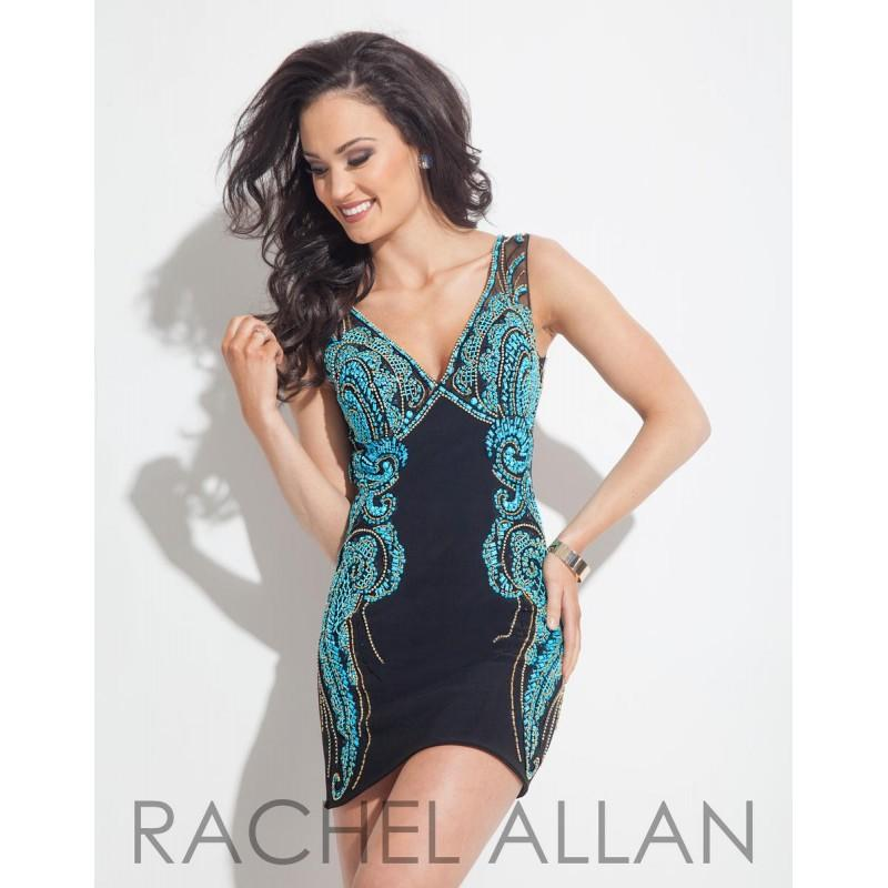 Wedding - Black/Aqua Rachel Allan Cocktail 3012  Rachel ALLAN Cocktail - Elegant Evening Dresses